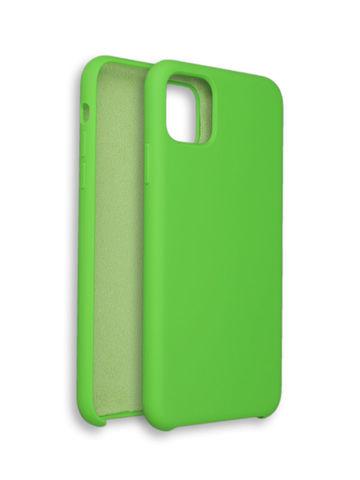 Чехол для iPhone 11 Софт Тач мягкий эффект | микрофибра светло-зеленый