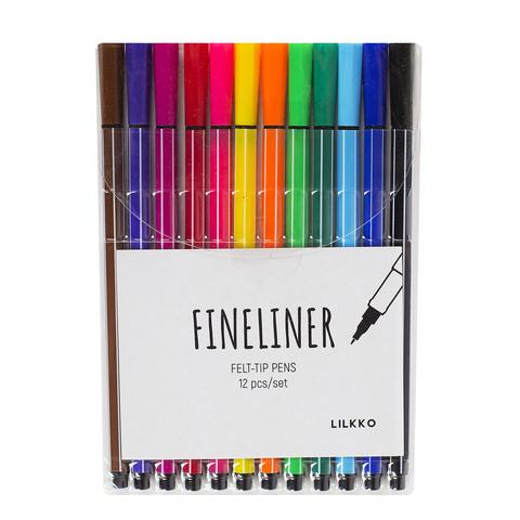 Набор капиллярных ручек Fineliner 12 цветов