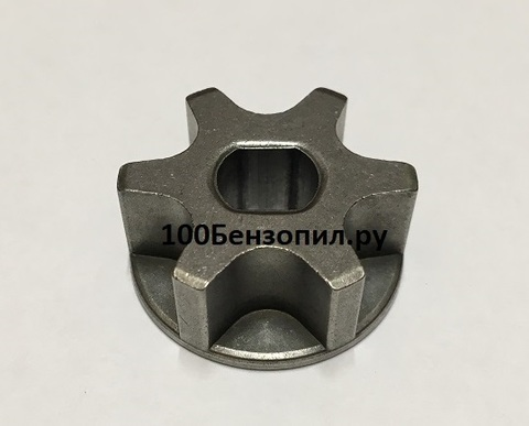 Звездочка на 6 зацепов для электропилы D-30, d=8/10, Н-12,5 mm