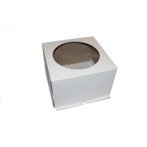 Коробка для торта с окном, 24*24*24см
