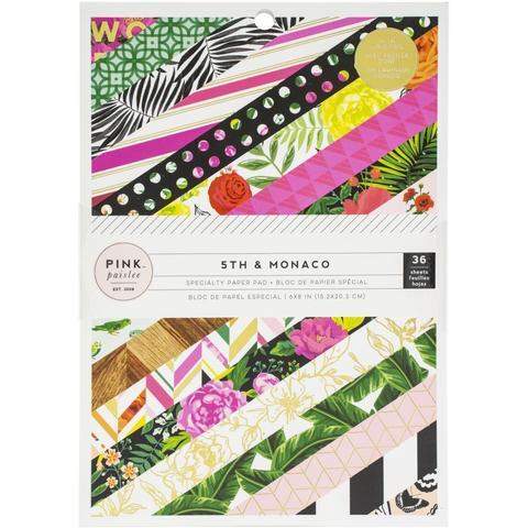 Набор односторонней бумаги Pink Paislee  5th & Monaco 15*20 см - 36 листов