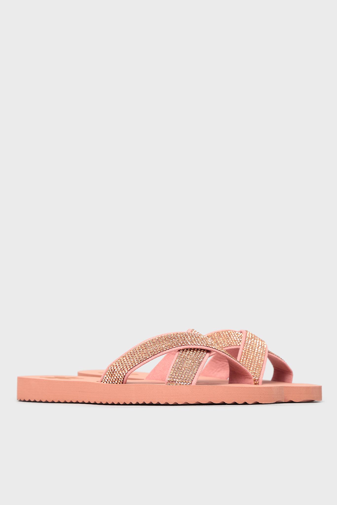 Женские розовые слайдеры Flip Flop