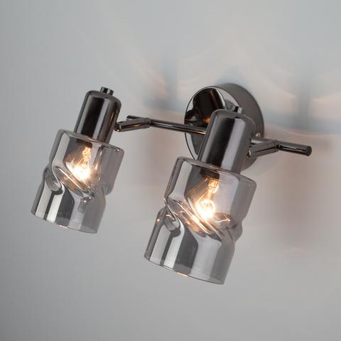 Настенный светильник с выключателем 20120/2 чёрный жемчуг