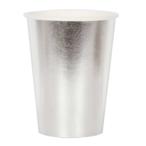 Стакан фольгирован серебряный 250мл 6шт