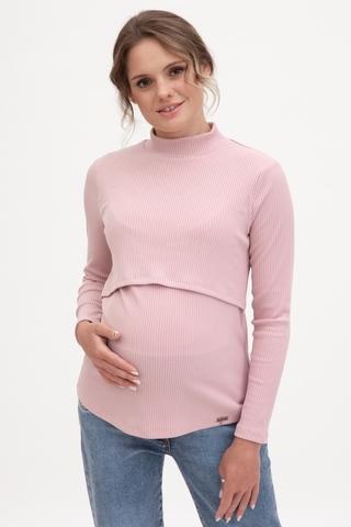 Лонгслив для беременных и кормящих 11921 розовый