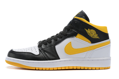 Air Jordan 1 Mid 'Black/White/Yellow'