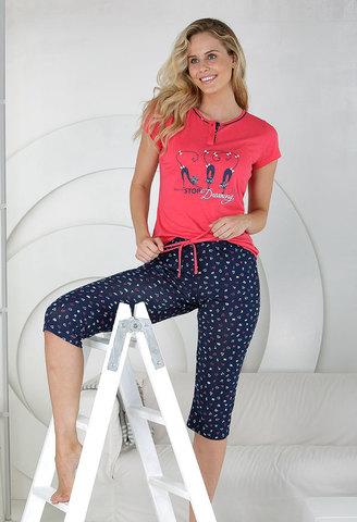 Пижама женская с бриджами Massana MP_211207 3XL