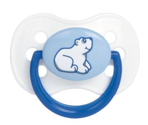 Canpol. Пустышка Animals круглая силиконовая 0-6 мес., синий