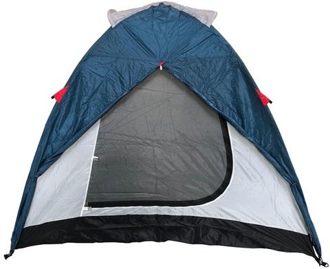Палатка Canadian Camper KARIBU 4, цвет royal, вход 2 в открытом состоянии.