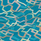 Крепдешин цвета бирюзовая морская волна с принтом