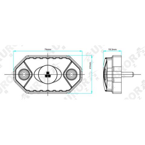 Светодиодная фара  рабочего  света Аврора  врезная ALO-Y-2-K ALO-Y-2-K  фото-4