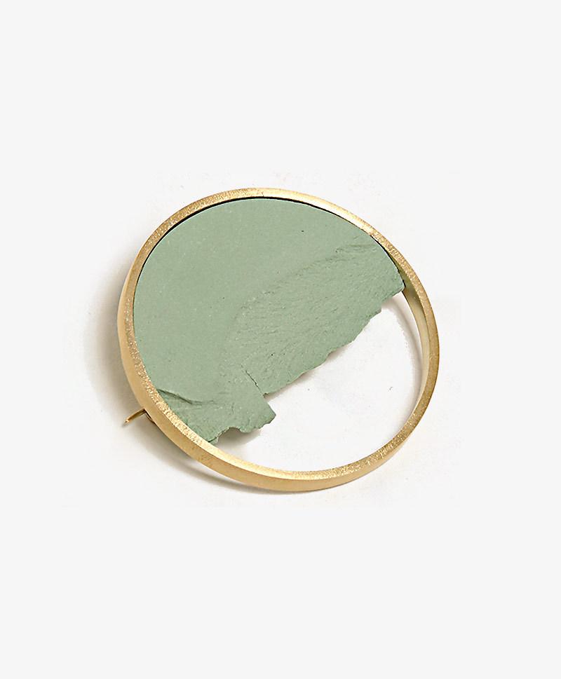 Брошь Circle Dorado Green