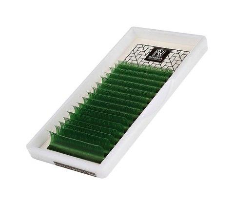 Цветные ресницы BARBARA (зелёные) МИКС