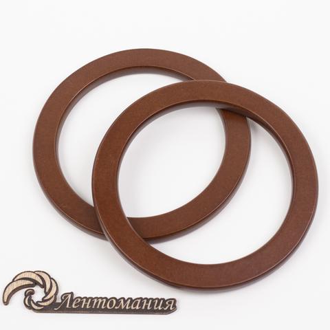 Деревянные ручки для сумки N16 темно-коричневые