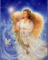 Алмазная Мозаика 40x50 Ангел со свечой