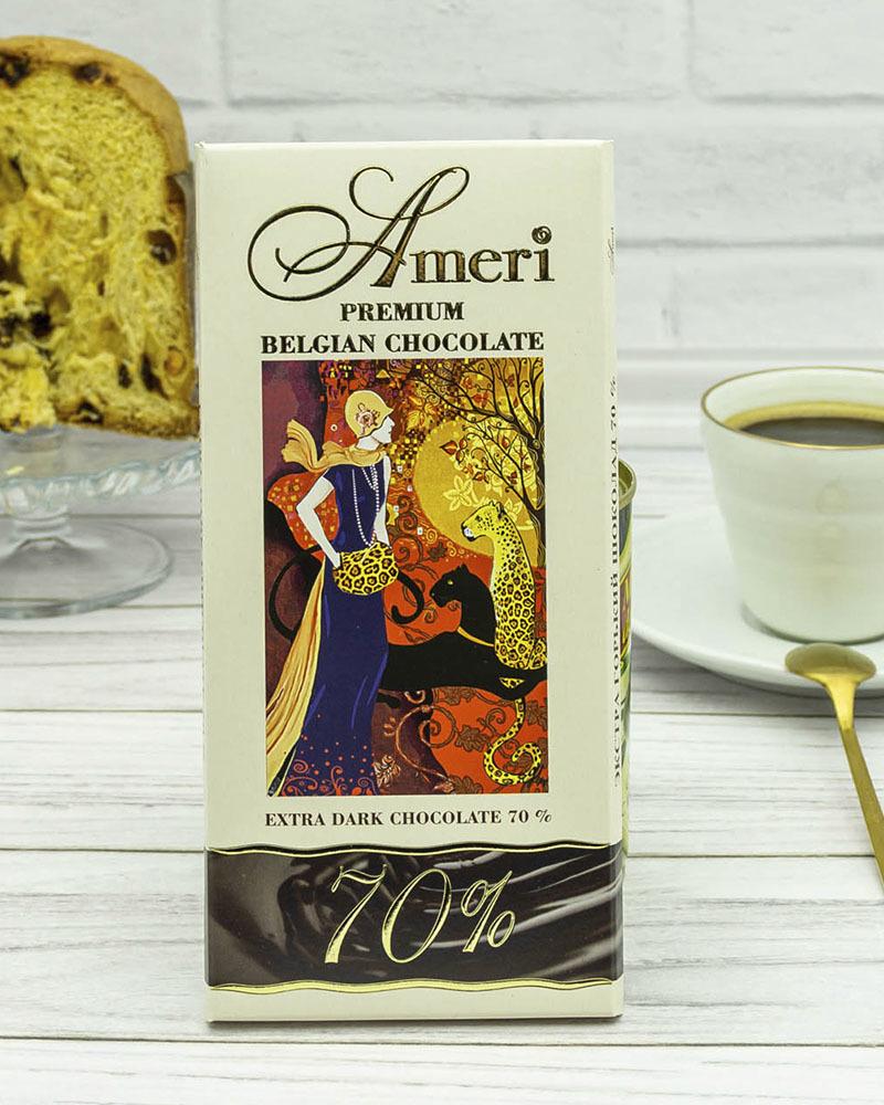 Экстра Горький Шоколад Ameri 70% 100 гр.