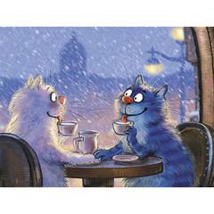 Картина по номерам Коты на свидании