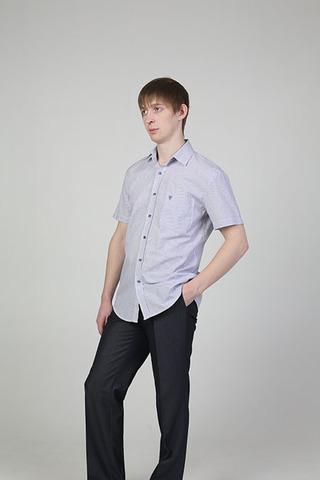 Выкройка классической рубашки с коротким рукавом