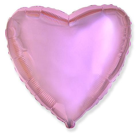 Шар-сердце розовый, 45 см