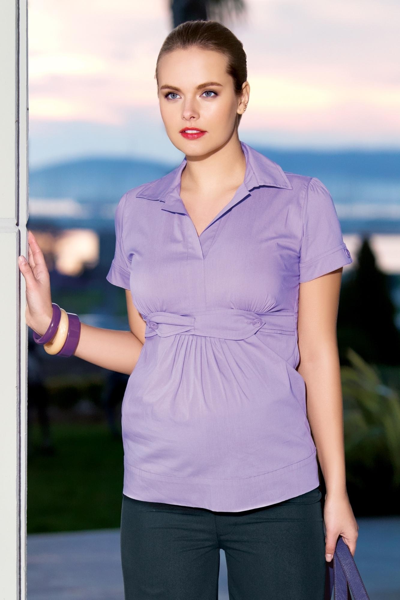 Блузка для беременных 01431 сиреневый
