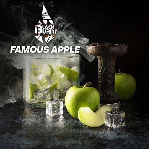 Табак Burn Black Famous Apple (Зеленое яблоко лёд) 100 г