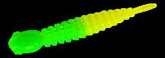 Силиконовые приманки Trout Bait Chub 50 (50 мм, цвет: Лимонно-зелёный, запах: чеснок, банка 12 шт.)