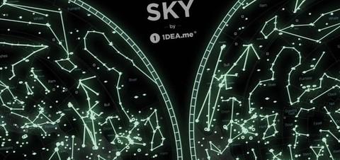 Карта звездного неба Star Map of the SKY 1DEA.ME