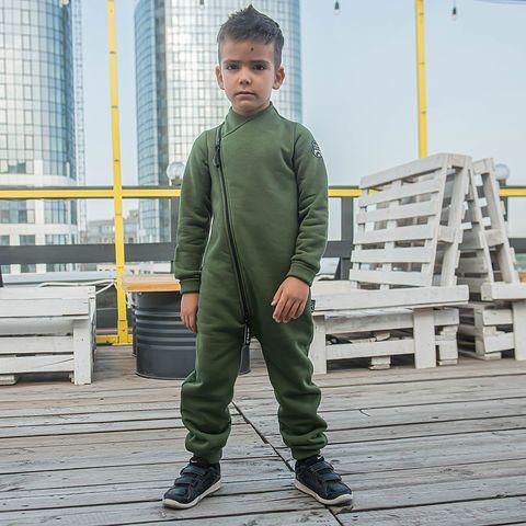 Warm diagonal jumpsuit - Khaki