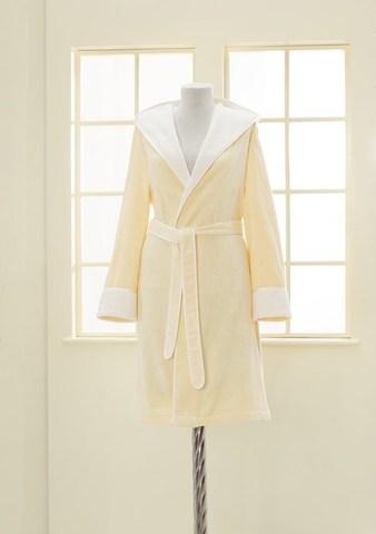 Женский махровый халат NEHIR жёлтый