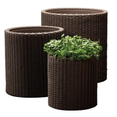 Комплект кашпо для сада Keter Cylinder Planters