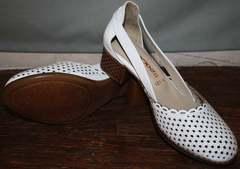 Туфли босоножки на каблуке Evromoda 101-6 White.