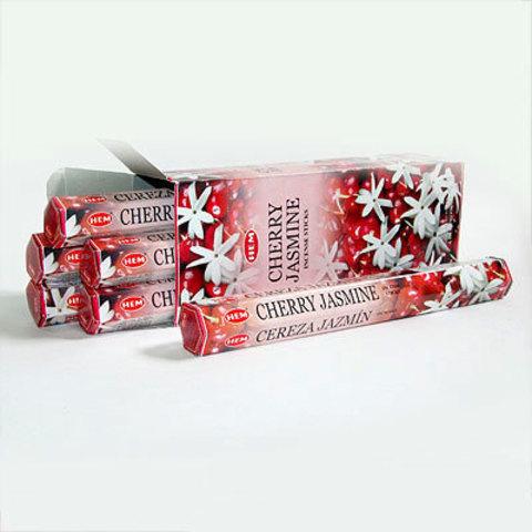 Благовония HEM Hexa HEM Hexa CHERRY-JASMINE вишня жасмин, 20 г (20 ароматических палочек)