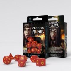 Classic Runic Red & yellow Dice Set (7)