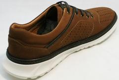 Летние дышащие кроссовки на каждый день мужские Vitto Men Shoes 1830 Brown White