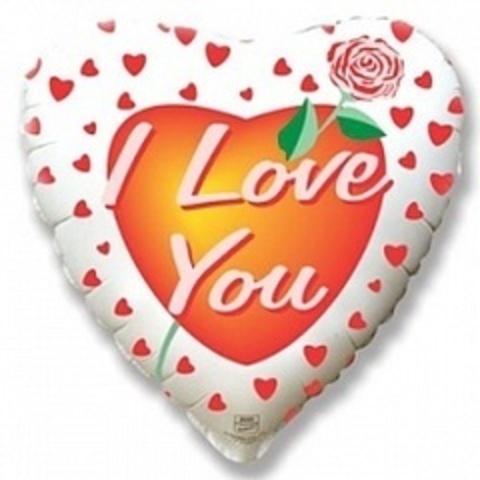 F Сердце Я тебя люблю, Роза, 18