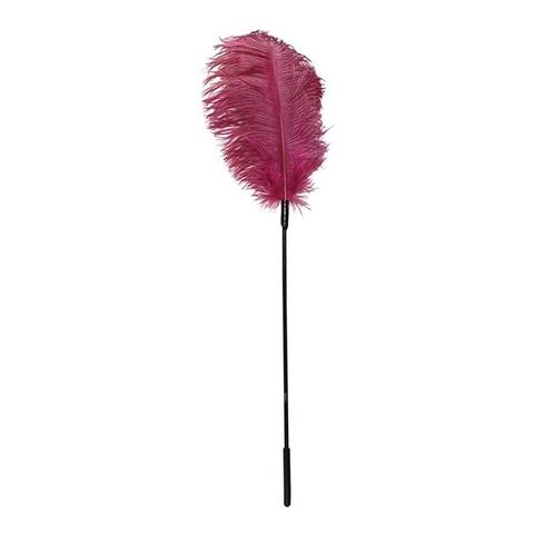 BDSM Перышко розовое на палочке Feder pink
