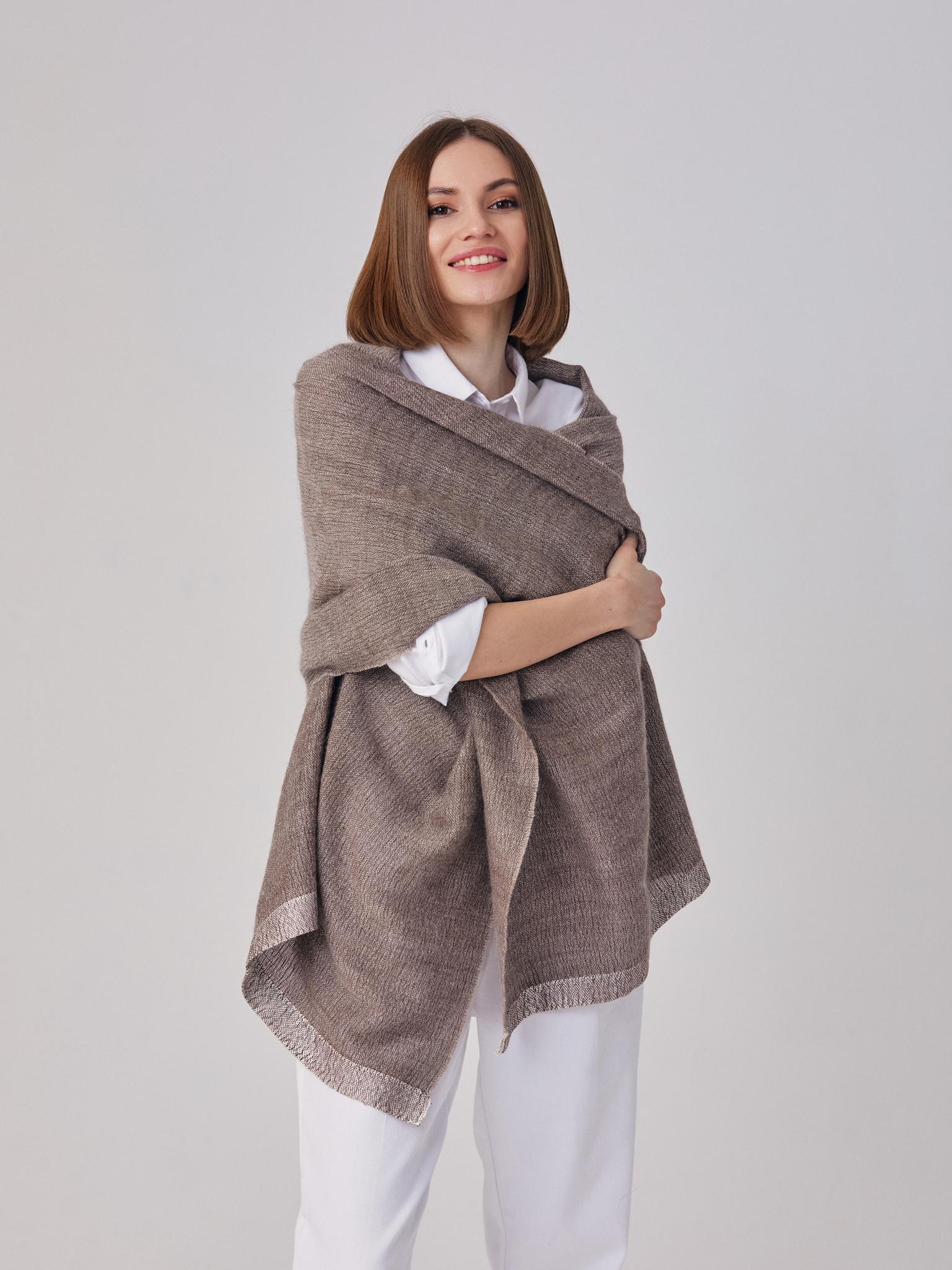 Тканый палантин из ангоры, кашемира и шелка шарф шаль