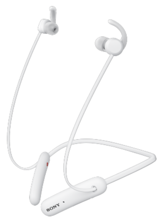 WI-SP510W беспроводные Bluetooth наушники Sony, цвет белый