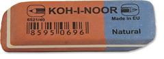 Ластик для графита и чернил сине-красный 6521/40, 57х20х8мм