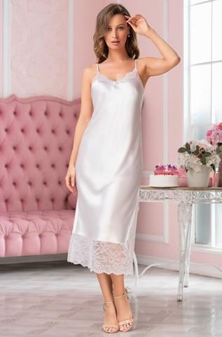Длинная атласная ночная сорочка Mia Amore Lidia