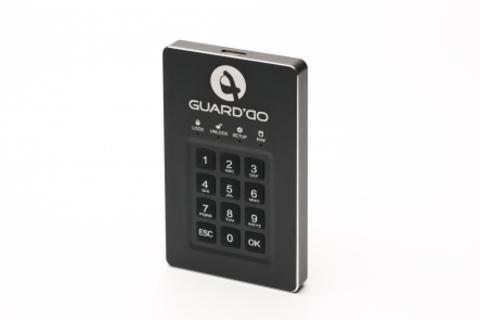 Защищенный внешний диск с пин-кодом Guard'Do 1 Тб.