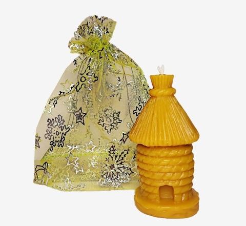 Свеча восковая Улей в подарочном мешке