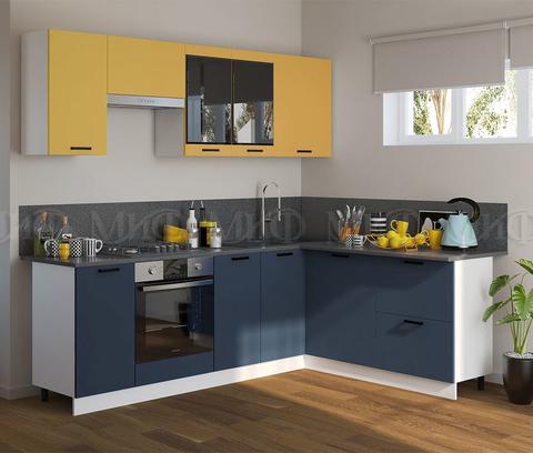 Кухня Угловая Техно NEW 2,4-1,8 м №5