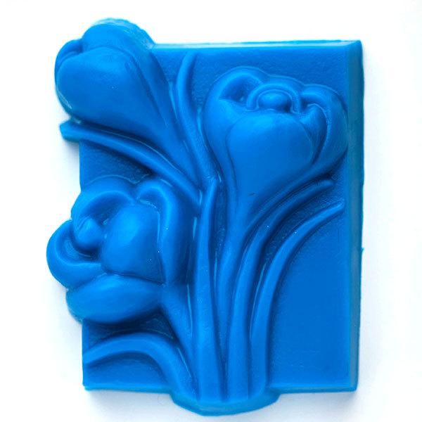 Пластиковая форма для мыла Крокусы