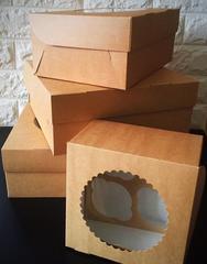 Коробки для КАПКЕЙКОВ крафт с окошком