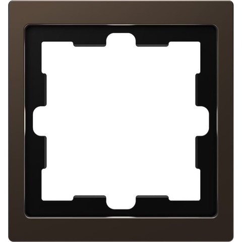Рамка на 1 пост. Цвет Мокко. Merten. D-Life System Design. MTN4010-6552