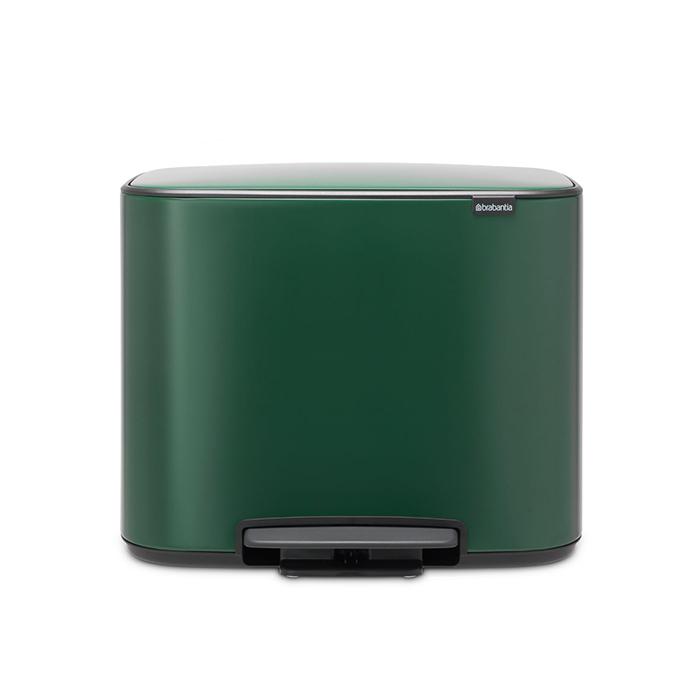 Мусорный бак Bo с педалью (3 x 11 л), Зеленая сосна, арт. 304149 - фото 1