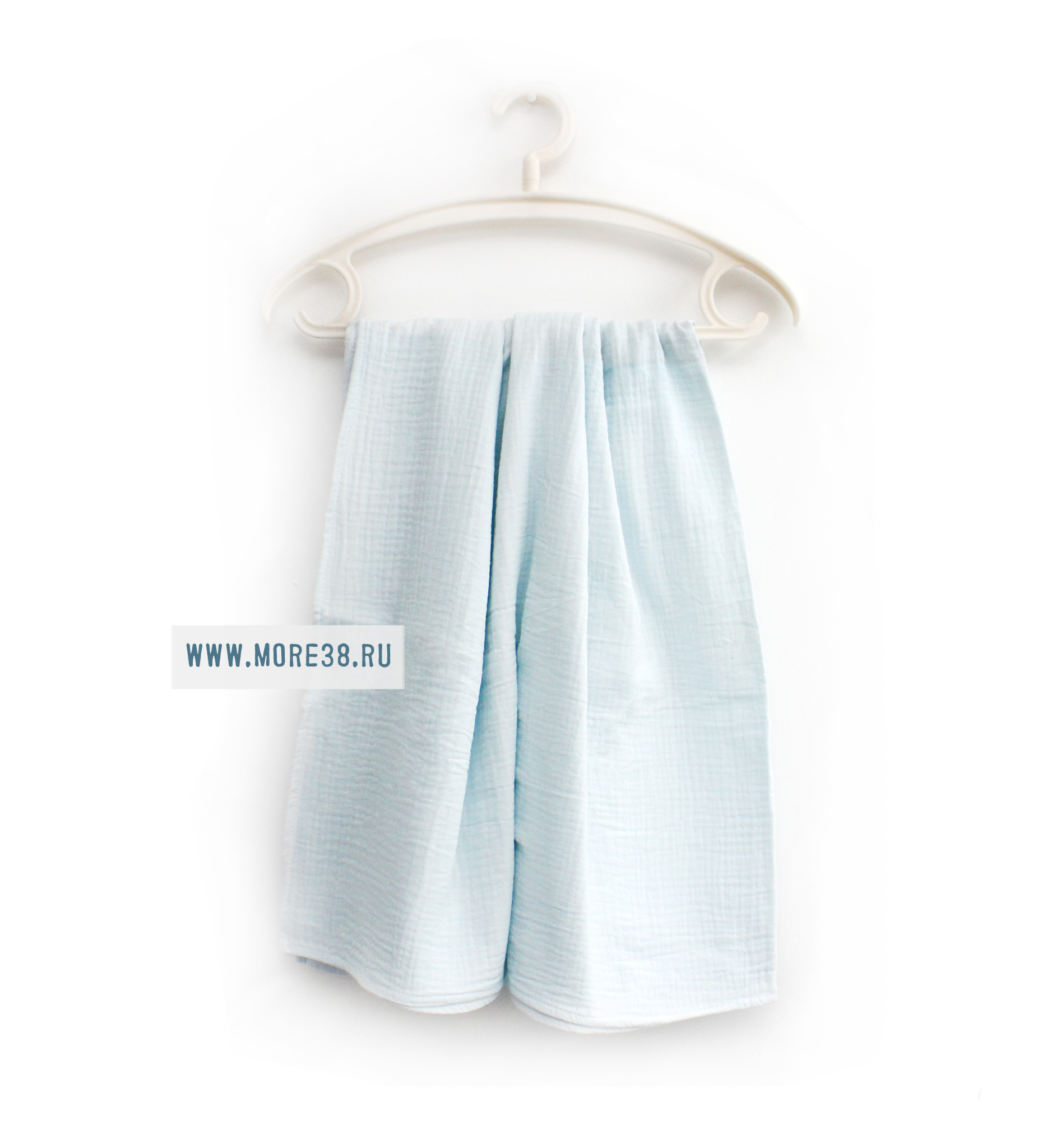 Муслиновая пеленка,голубой,1205(100х130 см)