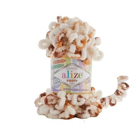 Купить Пряжа Alize Puffy Color Код цвета 7502 | Интернет-магазин пряжи «Пряха»
