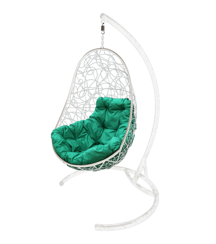 Кресло подвесное Parma white/green